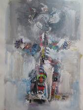 Raimundo Garcia Original Painting Cuban Artist Abstract Art Signed 1997