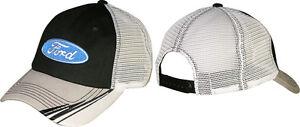 2016 Checkered Flag Sports Ford Oval Logo Black/Gray Hat FREE SHIP!