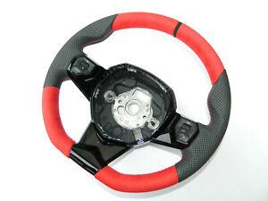 Original Lamborghini Aventador Svj Alcantara Leather Steering Wheel Leather Red