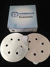 HAMACH Schleifscheiben -100 Stk.- Economic Stickup KLEBEND, 6-Loch ∅ 150mm P180