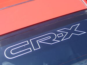 CR-X Tailgate Sticker / Decal for Honda CR-X EF8 - FREE P&P