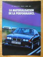 BMW M3 Coupe 1992 French text brochure for France - E36