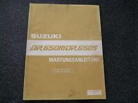 Suzuki DR 650 R  / DR 650 S  Wartungsanleitung