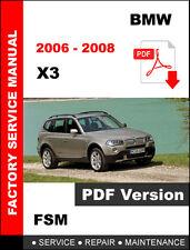 New listing Bmw 2006 2007 2008 X3 Service Repair Workshop Fsm Manual + Wiring Diagram