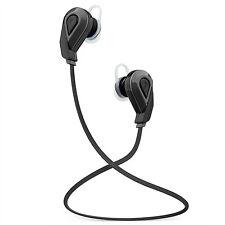 Black Wireless Bluetooth Headphones In-Ear Surround Sound Sports Earphones