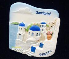 Santorini Mykonos Greece 3D FRIDGE MAGNET SOUVENIR GIFT KITCHEN TOURIST RESIN