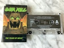 Overkill The Years of Decay Cassette Tape 1989 Atlantic Thrash Metal, Megadeth