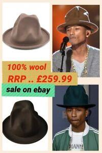 Mountain Hat High Hat Tall Hat Big Hat Pharrell Williams 100%WOOL