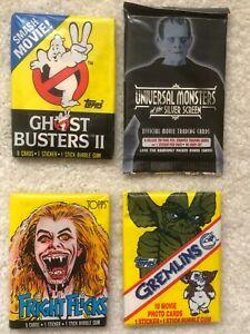 Universal Monsters - Fright Flicks - Gremlins - Ghost Busters II  Unopened Packs