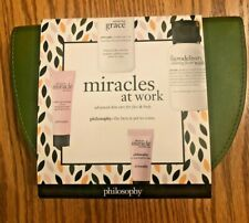 Philosophy Miracles at Work Travel Size Gift Set with Makeup Case New In Package