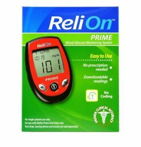 ReliOn 701103 Prime Blood Glucose Monitoring System - Red
