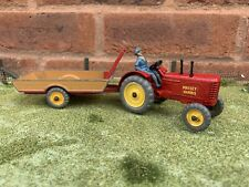 Dinky Vintage Massey Harris Tractor And Halesowen Trailer