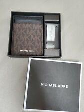 NWT Michael Kors Men's Card Case Money Clip Wallet Box Set