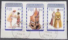 Fiji 1977 Θ Mi.358/60 Regentschaft Silver Jubilee Queen Elizabeth [sq7116]