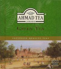 AHMAD TEA LONDON  GREEN TEA Genuine 100 TEA BAG.P&P UK Fast Delivery