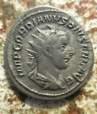 About EF: Gordian III (23 mm, 4.22 g) AR Antoninianus Rome mint. 244 AD, Mars: