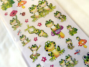 Frog Frogs Stickers Kids Labels for Craft Decoration Card-Making WD-57