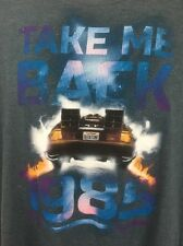 Back To The Future Take Me Back 1985 Delorean 80's T-Shirt SZ 2XL!!! Universal!!