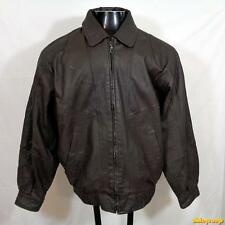 TOWNCRAFT Soft LEATHER JACKET Mens Size M medium brown zippered w/ zip liner