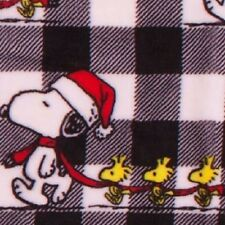 Berkshire Blanket Peanuts Santa Snoopy & Woodstock Fleece Throw (New) FREE SHIP