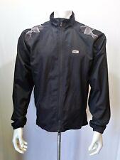 Louis Garneau Cycling Jacket Men's Large Black  Full Zip Polyester Long Sleeve