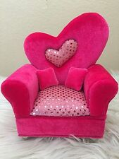 Pink Glitter Style Single Sofa Chaise Longue Jewelry Box Doll's House Furniture