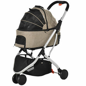PawHut Detachable Pet Stroller 2-In-1 Foldable Dog Cat Travel Carriage Carrying