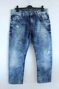 Mustang NEW Blue Denim Comfort Fit High Rise Men Jeans Size W 33 L 32