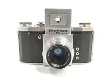 RARE USSR OCCUPIED GERMANY PRAKTICA FX CAMERA W/50mm 2.9 E.LUDWIG MERITAR Lens