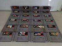HUGE SELECTION Nintendo Super NES SNES Video GAME Cartridges ONLY Great Titles