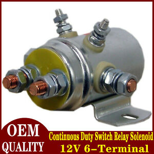 Continuous Duty Switch Relay Solenoid For Autocrane Boom Winch 12V 6-Terminal