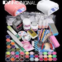 36W Lampe UV Séchoir à Ongle Poudre Acrylique UV Gel Décor Manucure Nail Art Kit