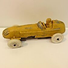 Vintage Auburn Rubber Yellow Indy Race Car Toy, No Box