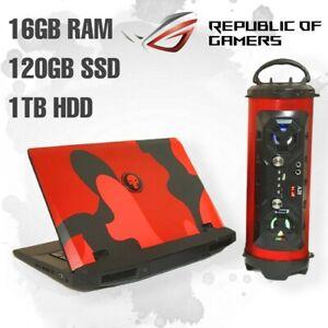 ASUS ROG GAMING LAPTOP Core i7 16GB RAM 120GB SSD 1TB HDD