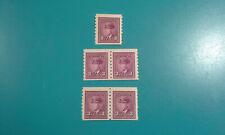 (5) Canada Stamp #266 King George VI 1943 3c 5x