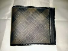 Burberry Men's Smoke Check Wallet Authentic