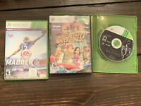Lot of 3 Xbox 360 Games -FREE SHIPPING. SKYRIM, MADDEN 16, KINECT ADVENTURES