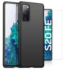 Para Samsung Galaxy S20 FE/5G Estuche Funda Rígida Delgada & Vidrio Protector de pantalla
