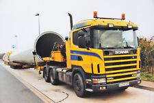 Droste Scania 144 G 530 mit  5 achs Semi Tieflader Schwertransport, Poster20x30