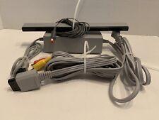 Nintendo Wii Cords Complete w/ Power Supply AV Cord & Sensor Bar OEM Original