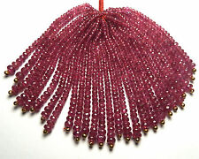 """2.5"""" Strand RUBY 2-4mm Faceted Rondelle Beads NATURAL"""