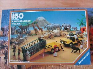 Ravensburger Puzzle 150 Teile Safari Afrika Tiere Elefanten Giraffen Playmobil