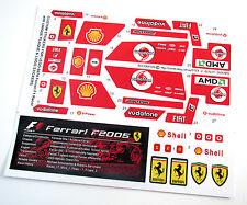 CUSTOM DIE CUT STICKERS for LEGO 8674 Ferrari F1 Racer + LOGO & PLAQUE STICKER