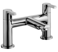 COOKE & LEWIS PURITY 2 HOLE BATH MIXER TAP-CERAMIC VALVE-DECK MOUNTED-CHROME-NEW