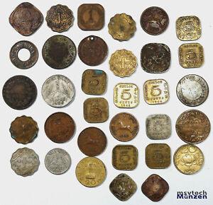 Indien Ceylon Lot 🇮🇳 33 Münzen ab 1835  🇮🇳 India #1