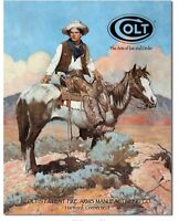 COLT Revolvers Pistols Extra Safety Distressed Retro Vintage Style Tin Sign New