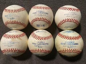Lot Of 1/2 Dozen Major League Used Baseballs Manfred Jr MLB