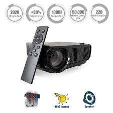 Video Projector Portable, Nuprojector Full HD HDMI VGA LED Supports 1080p