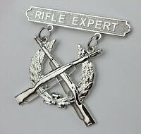 U.S. MARINE CORPS MARKSMANSHIP QUALIFICATION BADGE USMC RIFLE EXPERT BADGE PIN
