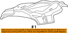 Lincoln FORD OEM 03-05 Aviator Spare Tire Carrier-Shield 8L2Z1A484A